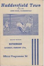 HUDDERSFIELD TOWN v ROTHERHAM UNITED 59-60 LEAGUE MATCH
