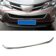 Fit For 13- Toyota RAV4 Chrome Front Lower Mesh Grille Bumper Cover Trim Molding