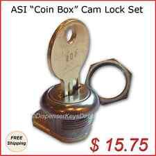 "ASI - Coin Box Cam Lock Set ""L-002"" for Vendor Type Dispensers (1/set)"
