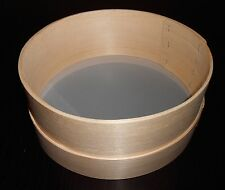 Wooden Flour Sieve Sifter 11 cm 4.3 inch Handmade Metal Fine Mesh 0.6mm European