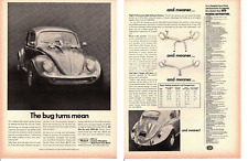 1967 VOLKSWAGEN BEETLE FIBERGLASS BODY PARTS ~ ORIGINAL 2-PAGE BECK AD