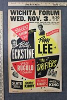 "Wichita Forum Concert Poster - Rare 1st The Drifters Show (1954) 14"" x 22"" US..."