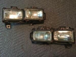 88-89 Chevy GMC Truck DUAL SEALED BEAM GLASS HEADLIGHTS PAIR LH & RH Side RARE!