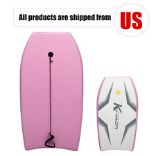 37'' Pink Lightweight Bodyboard with Wrist Leash&Eps Core Surfing for Ocean Sea