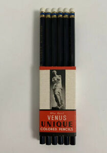 Venus Colored Pencil 12 Pack Blue 1206 NIP New Deadstock American Co USA Made
