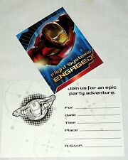 ~~IRON MAN- 2 ~   8- INVITATIONS WITH ENVELOPES PARTY SUPPLIES