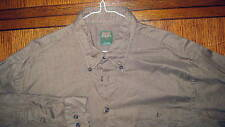 SCOTT BARBER L/S B/D BROWN SPORT SHIRT  EXCELLENT CONDITION SIZE L