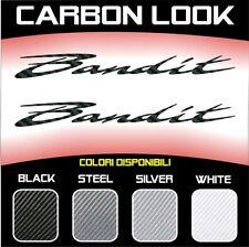 2 Adhésifs Stickers Moto Suzuki Bandit 3D Carbone