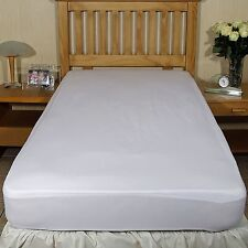 Luxury fitted breathable waterproof brushed cotton mattress protector Single bed