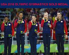 2016 USA RIO OLYMPIC GYMNASTICS TEAM GOLD MEDAL 8X10 PHOTO