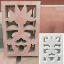 New Antique Window Flower Cemen Brick Plastic Mould Concrete Pool Fence 45*32cm