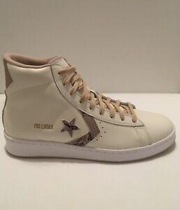 Converse Pro Leather Hi Summer 2021 Snakeskin Cream White Mens Size 9.5 170497C