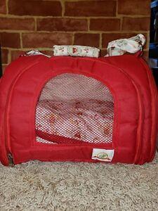 "BAGDOG SMALL DOG CARRIER RED ""CUPCAKE"" TRAVEL BAG 2520"