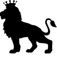 CROWNED LION STENCIL - RE-USABLE 8 X 7.5 INCH