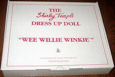 Shirley Temple Dress Up Doll Outfit  WEE WILLIE WINKIE  MIB  Danbury Mint