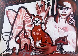Elvira Bach - Radierung(Graphik) -Steifpapier - vom Künstler persönlich signiert