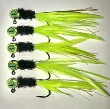 5 pack of hand tied 1/16 jigs - Crappie, Gills, Trout and Bass - Hand Tied