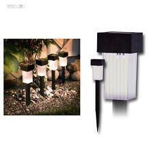 4 Piezas LED Lámparas solares Pathlight, Lámpara de jardín blanco
