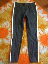 Abercrombie High Rise Thick Side Striped Gray Leggings Sz. Small New!