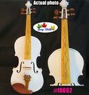 hand made White colors best craft electric violin Acoustic violin 3/4