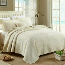 Square Quilted Patchwork Coverlet Queen Size Bedspreads Set Blanket Quilt Covers