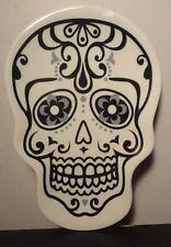 Day of the Dead Sugar Skull Dish (White)