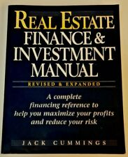 REAL ESTATE FINANCE INVESTMENT MANUAL By Jack Cummings **LIKE NEW**