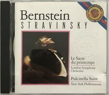BERNSTEIN : STRAVINSKY / LE SACRE DU PRINTEMPS / PULCINELLA SUITE - [ CD ALBUM ]