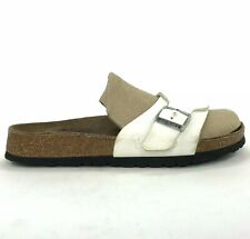 Birkenstock Birki's Womens Size 7 EUR 38 Slide Sandals White 245