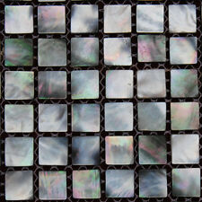 Mother Of Pearl Black Lip  SEA Shell Mosaic tiles Square 15*15mm ,Full Sheet