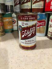 1957 SCHLITZ 12oz FLAT TOP BEER CAN ~ AT KANSAS CITY, MISSOURI.