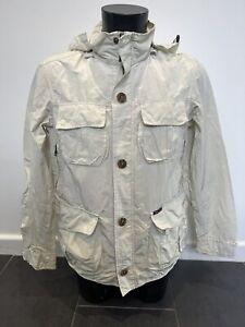 Marlboro Classics Mens Cream Linen Jacket Coat Size Uk Large Walking Casual VGC