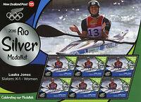 New Zealand NZ 2016 MNH Rio Silver Luuka Jones Kayaking 6v M/S Olympics Stamps