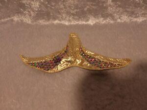 Jewel Hair Mermaid Barbie1990's  Mermaid Fin Gold HTF