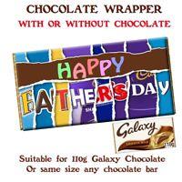 Happy Fathers Day Chocolate Bar Wrapper Novelty Gift Present Dad Grandad Stepdad