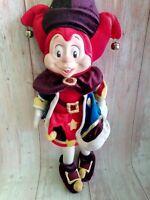 """Vintage Pardoes Efteling Mascot Netherlands Rubber Face Jester Doll 24"""""""