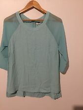 FABULOUS JEANSWEST TOP GREEN SIZE 10 VGC