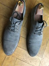 Kenneth Cole Oxford Leather Shoes Grey Size 11.5 Suede