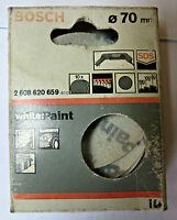 Bosch White paint 10 dischetti abrasivi diam.70mm 60 100 180 per PEB500E GEB100