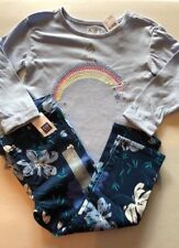 New Baby Gap Girl's 2T Outfit Pants Shirt L/S Floral Blue Skinny Fit