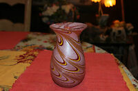 Swirl Art Glass Vase Red Pink Yellow Swirl Colors Frosted Glass Vase