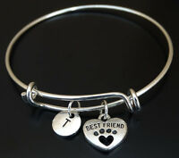 PERSONALIZED Dog Best Friend Bangle Bracelet - choose an INITIAL, Dog Jewelry