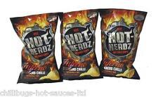 """HOT HEADZ HABANERO INFERNO CHIPS"" 3 x 60g bags - Hot Chilli Crisps"