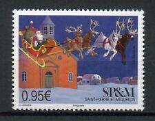 Saint-Pierre & Miquelon SP&M 2018 MNH Christmas Santa 1v Set Churches Stamps