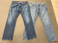 """Lot of 2 Two TOMMY HILFIGER """"Classic""""  Jeans Size 36 X 32 FS Benefits Charity"""