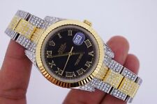 Unused Rolex Datejust 2 II 41mm Two Tone Watch Iced Out 14.50 Ct Diamonds Video