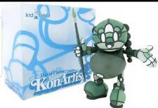 new/sealed green kon artis by graffiti artist david flores for kidrobot