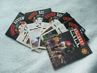 Manchester United Home programmes 1980 - 1985 ~ Select from drop down menu