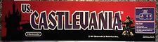 """Vs Castlevania Nintendo Arcade Marquee 22.3"""" x 5.8"""""""