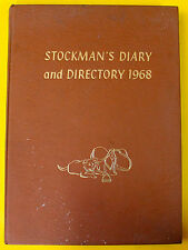 STOCKMAN'S DIARY AND DIRECTORY 1968 THOMSON PUBLICATIONS (AUSTRALIA) HARDCOVER